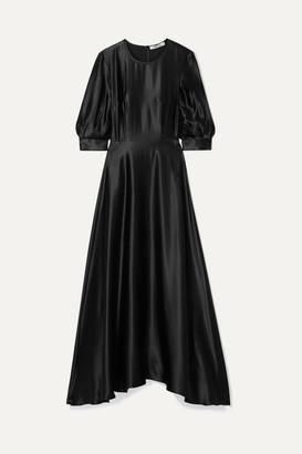 Deitas Ada Silk-satin Maxi Dress - Black