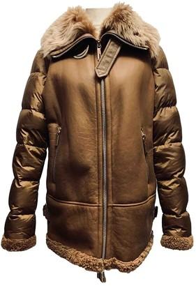 Baldinini Camel Shearling Coats