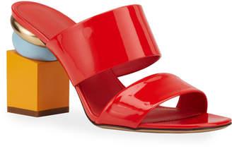 Salvatore Ferragamo Lotten Modern-Heel Sandals