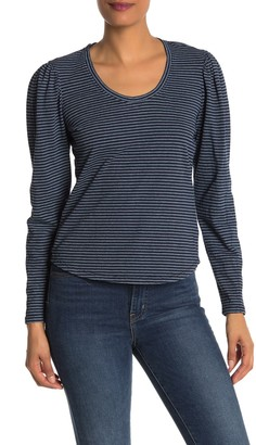 La Vie Rebecca Taylor Striped Long Sleeve T-Shirt