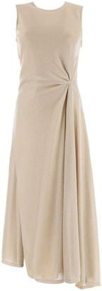 Lanvin LUREX DRAPED DRESS 36 Gold
