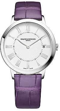 Baume & Mercier Women's Classima Stainless Steel & Alligator Strap Watch
