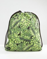 Mi-Pac Kit Bag Tropical Leaf Print