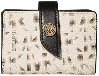 MICHAEL Michael Kors Charm Small Tab Card Case (Brown Multi) Handbags