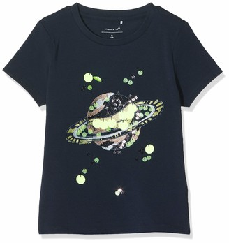 Name It Girl's Nkfthibba Ss Top T-Shirt