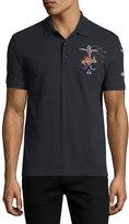 Valentino Garavani Tattoo-Embroidered Polo Shirt
