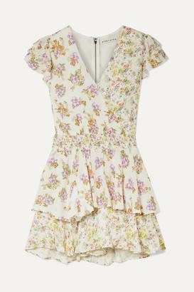 Alice + Olivia Alice Olivia - Mariska Ruffled Floral-print Voile Playsuit - Cream