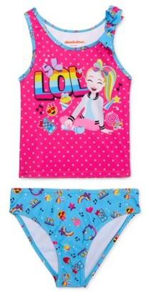 Jojo Siwa Girls 4-6x Lol Bow Strap Tankini Swimsuit