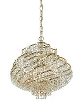 AF Lighting Lyric Mini-Chandelier in Gold