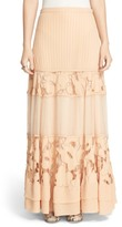 Free People 'To Put It Wildly' Lace Inset Maxi Skirt