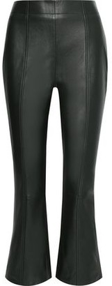 Iris & Ink Axel Leather Kick-flare Pants