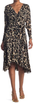 Diane von Furstenberg Rilynn Faux Wrap Patterned Dress