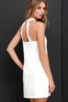 LuLu*s Formal Correspondence Ivory Lace Dress