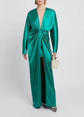 GAUGE81 Shibu Long Gathered High-Slit Dress