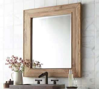 Pottery Barn Ricson Handcrafted Rectangular Wood Mirror