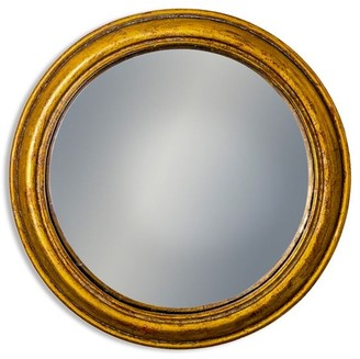 &Quirky - Antiqued Gold Rounded Framed Large Convex Mirror