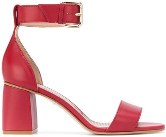 RED Valentino RED(V) peep-toe buckled sandals
