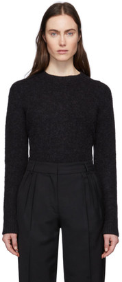 Acne Studios Black Alpaca and Wool Asymmetric Hem Sweater