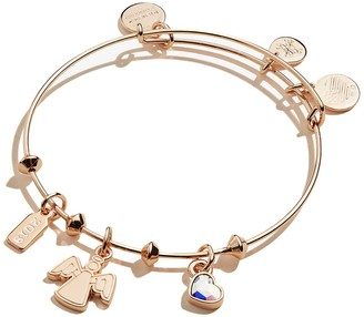 Alex and Ani Tree Topper Angel Trio Charm Expandable Wire Bangle Bracelet
