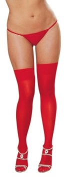 Dreamgirl Plus Size Sheer Thigh High With Back Seam