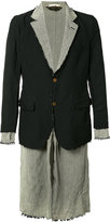 Comme des Garcons raw layered blazer - men - Linen/Flax/Polyester - S