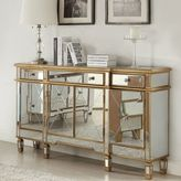 Bed Bath & Beyond Powell Gold and Mirrored 3-Drawer/4-Door Console