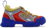 Gucci Orange and Blue Flashtrek Sneakers