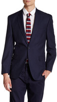 Tommy Hilfiger Ethan Blue Plaid Two Button Notch Lapel Suit Separates Jacket