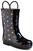 Western Chief Toddler Girls' Molly Polka Dot Rain Boots - Black