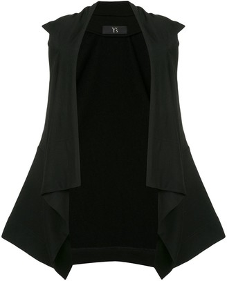 Y's Open Front Dropped-Shoulder Top