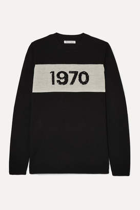 Bella Freud 1970 Sequin-embellished Wool Sweater - Black