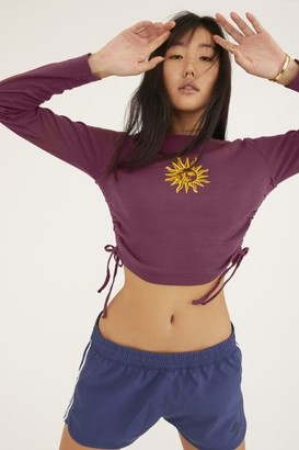 Urban Outfitters Love Always Ruched Long Sleeve Tee