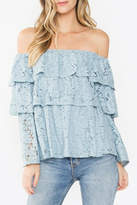 Sugar Lips Lace Tiered Top