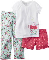 Carter's 3-pc. Short-Sleeve Pajama Set -Baby Girls12m-24m