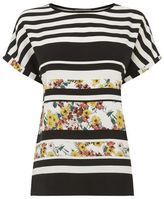 """Oasis STRIPE DITSY TEE [span class=""""variation_color_heading""""]- Multi Natural[/span]"""
