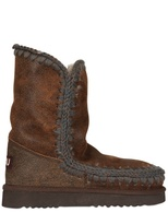 Mou Eskimo Metallic Calfskin Short Boots