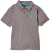 Beverly Hills Polo Club Steel Gray Jersey Polo - Boys