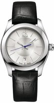 Calvin Klein Women's Strive K0K23126 Black Leather Quartz Watch with Dial