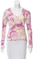 Loro Piana Floral Patterned Cashmere Sweater