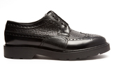Alexander McQueen Textured-leather brogues