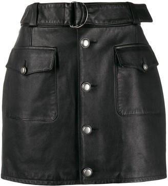 Saint Laurent D-ring mini skirt