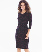 Soma Intimates Madison Long Sleeve Dress Ebony Plum
