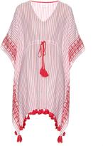 Velvet by Graham & Spencer Janessa embroidered tassel-hem dress