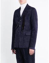 Damir Doma Deconstructed Velvet Jacket