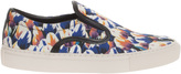 Mother of Pearl Achilles Blue Tulip Print Shoe