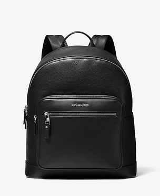 Michael Kors Hudson Pebbled Leather Backpack - Black