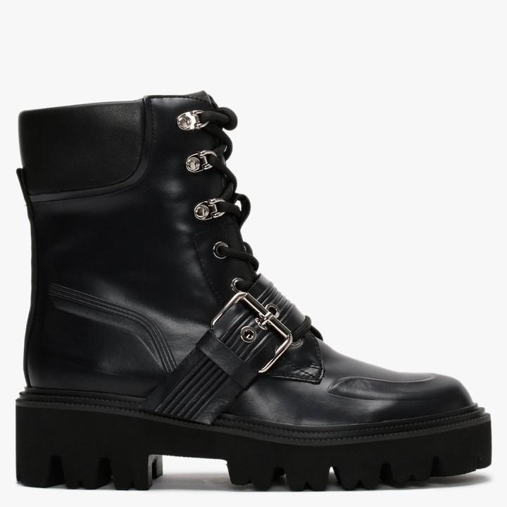 Daniel Elena Black Leather Biker Boots