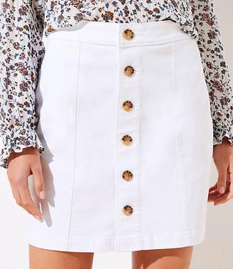 LOFT Denim Button Down Skirt