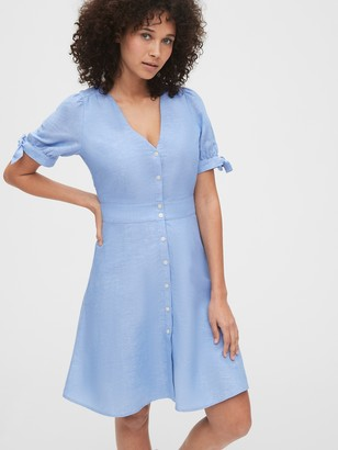 Gap Tie-Sleeve Dress