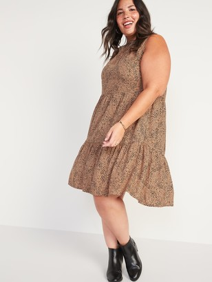 Old Navy Printed Plus-Size Tiered Sleeveless Swing Dress